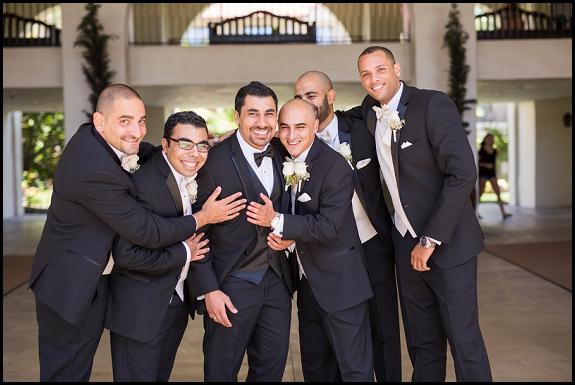 groomsmen at hyatt hungtington beach wedding