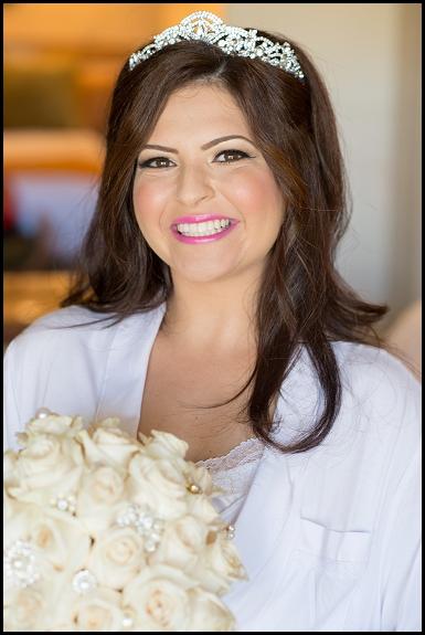 bride at hyatt regency resort and spa huntington beach