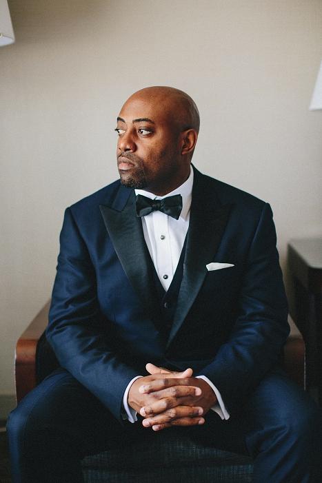 groom blue wedding suit