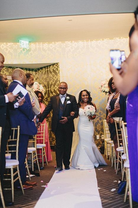 center club indoor wedding ceremony