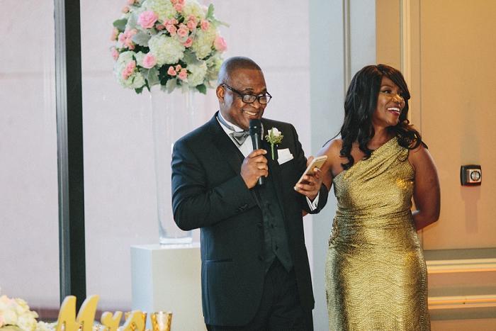 center club wedding reception