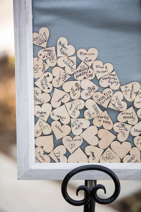 wedding heart guest book