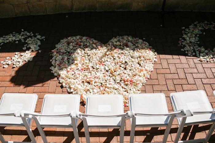 wedding petal heart
