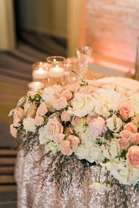sweetheart blush table