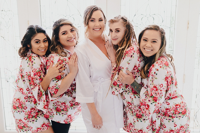 wedding floral robes
