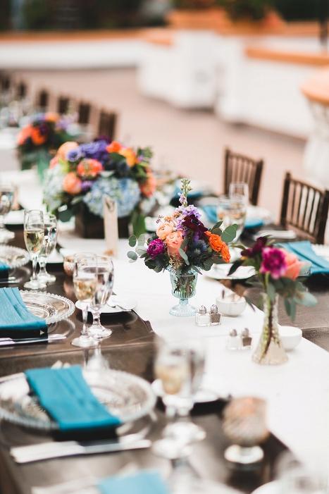 vibrant wedding colors