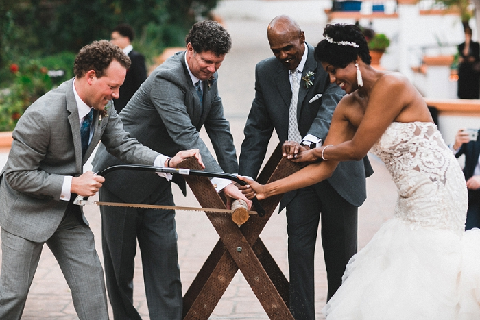 sawing the log wedding tradition