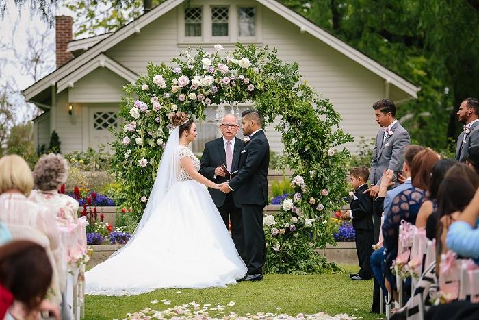 outdoor garden wedding