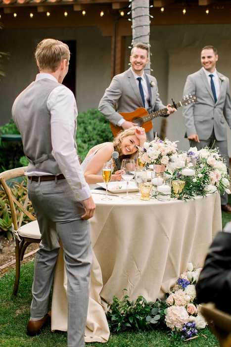 surprising the bride