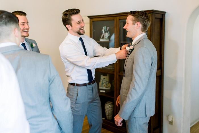 groomsmen at casa