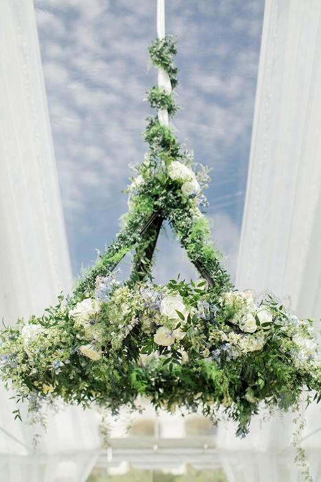 garden floral chandelier