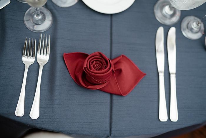 rose fold napkin