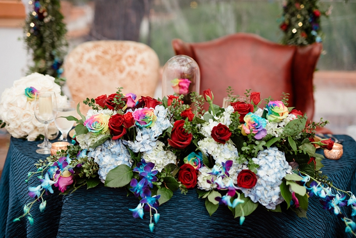 UP wedding sweetheart table