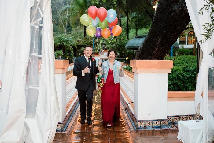 UP balloon wedding entrance