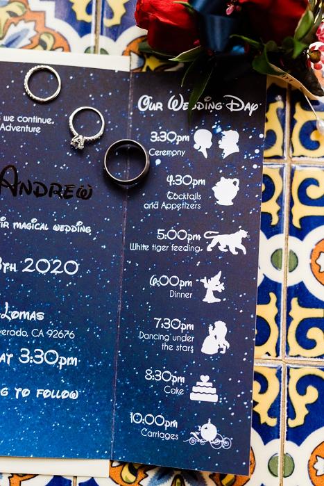 custom disney wedding invitation
