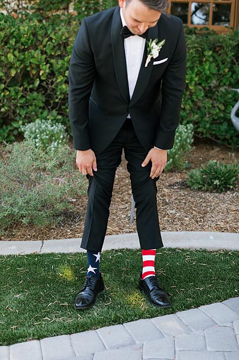 groom patriotic socks